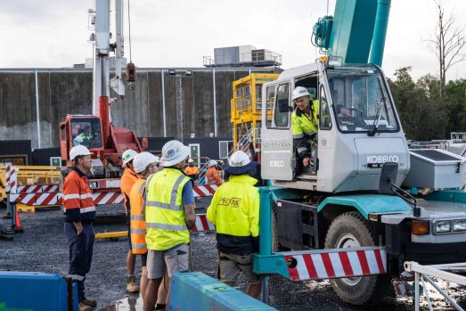 High risk work licence training - Kobelco 7T city class crane RK70M-2