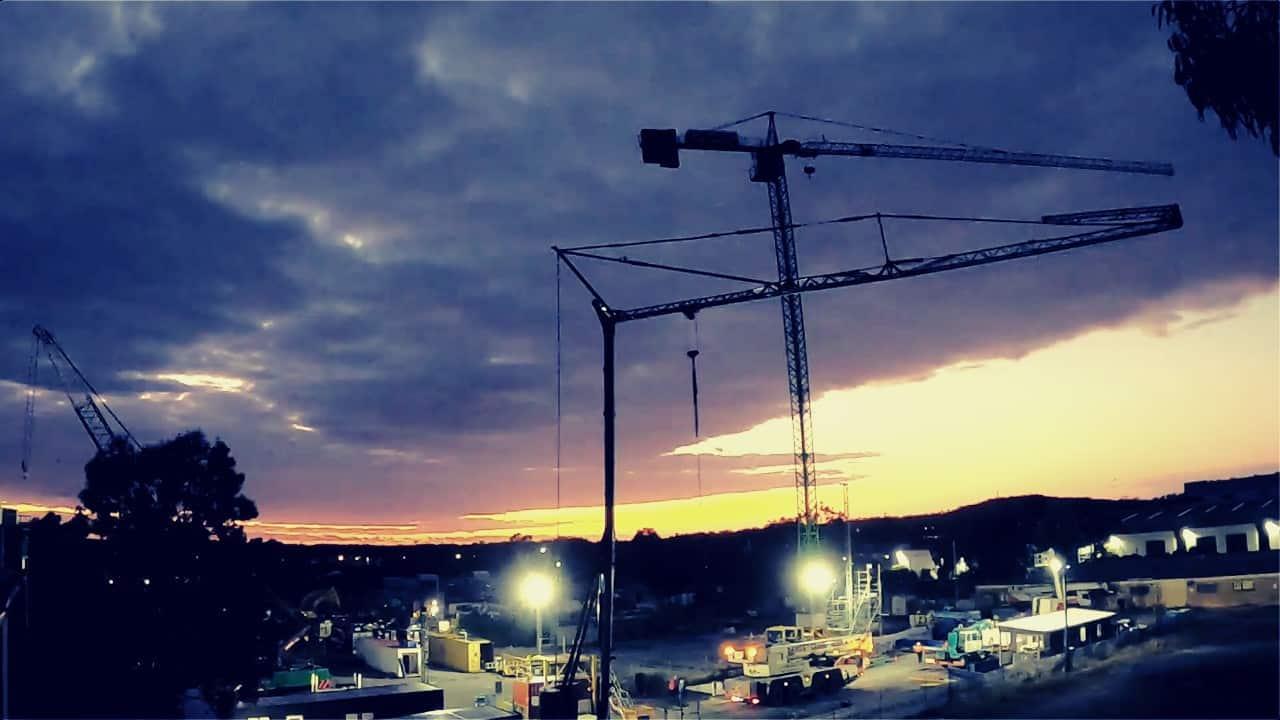 On the Job Training Dusk Skyline